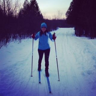 Cross-country skiing fun